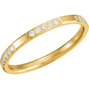 14K Yellow 1/6 CTW Diamond Anniversary Band Size 8 - Siddiqui Jewelers