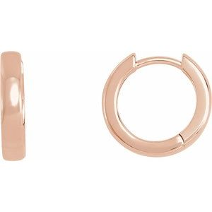 14K Rose 14 mm For Hinged Earring - Siddiqui Jewelers