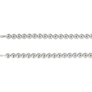 "Sterling Silver 14 mm Bead 8"" Chain - Siddiqui Jewelers"