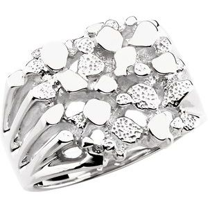 Sterling Silver Men's Nugget Ring - Siddiqui Jewelers