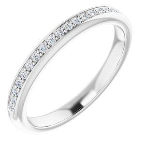 Platinum 1/8 CTW Diamond Band for 6 mm Square Ring - Siddiqui Jewelers