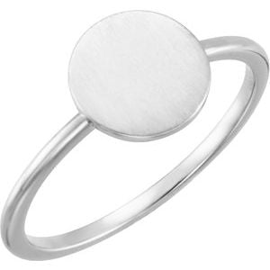 Continuum Sterling Silver Round Engravable Ring - Siddiqui Jewelers