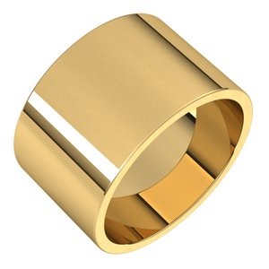 14K Yellow 12 mm Flat Band Size 9 - Siddiqui Jewelers