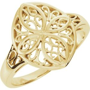 14K Yellow Filigree Ring - Siddiqui Jewelers