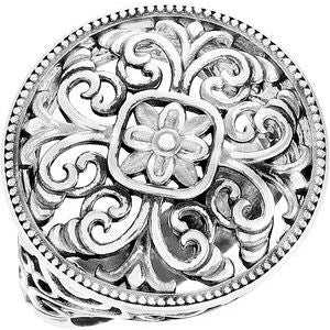 Sterling Silver Filigree Ring - Siddiqui Jewelers