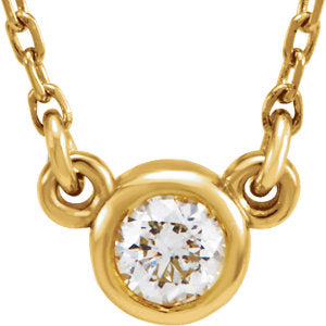 "14K Yellow 1/6 CTW Diamond 18"" Necklace"