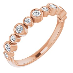 14K Rose 1/3 CTW Diamond Ring - Siddiqui Jewelers