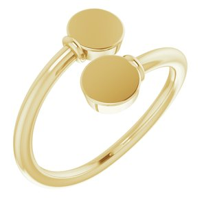 14K Yellow Engravable Bypass Ring - Siddiqui Jewelers