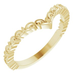 "14K Yellow Vintage-Inspired ""V"" Ring - Siddiqui Jewelers"