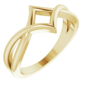 14K Yellow Geometric Negative Space Ring - Siddiqui Jewelers