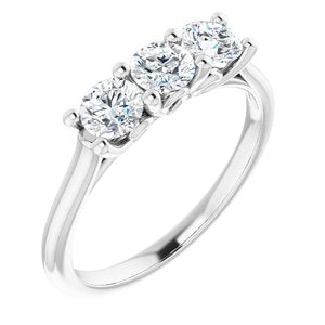 14K White 4.1 mm Round 3/4 CTW Diamond Engagement Ring - Siddiqui Jewelers