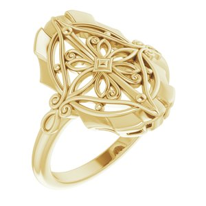 14K Yellow Vintage-Inspired Ring - Siddiqui Jewelers