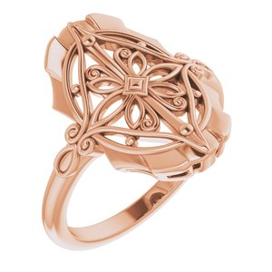 14K Rose Vintage-Inspired Ring - Siddiqui Jewelers