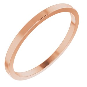 10K Rose 1.5 mm Flat Band Size 6 - Siddiqui Jewelers
