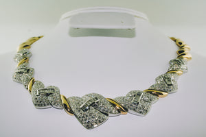 Diamond Necklace in 14K Two-tone Gold
