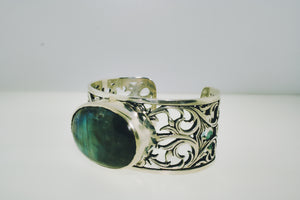Labradorite Braclet in Sterling Silver - Siddiqui Jewelers