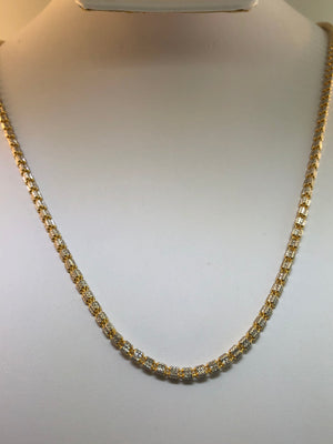 "22K Two-tone Gold Necklace 22"" - Siddiqui Jewelers"