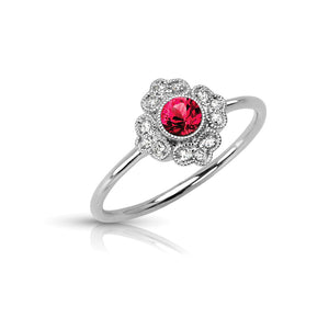 14K White Gold Ruby and Diamond Fashion Ring - Siddiqui Jewelers