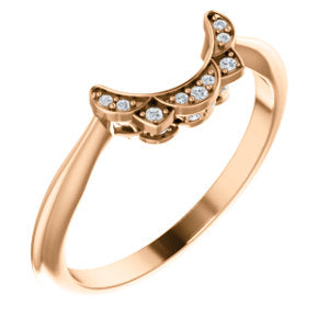 14K Rose .04 CTW Diamond Band - Siddiqui Jewelers