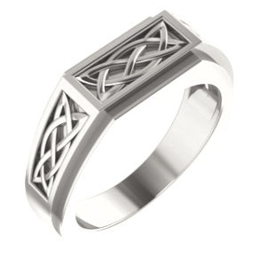 Sterling Silver 8 mm Celtic-Inspired Ring - Siddiqui Jewelers
