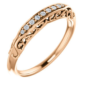 14K Rose .07 CTW Diamond Matching Band - Siddiqui Jewelers
