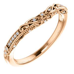 14K Rose .05 CTW Diamond Band - Siddiqui Jewelers