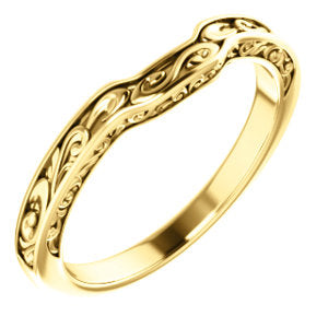 14K Yellow Sculptural-Inspired Matching Band - Siddiqui Jewelers