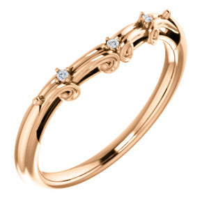 14K Rose .015 CTW Diamond Matching Band - Siddiqui Jewelers