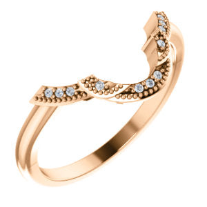 14K Rose .025 CTW Diamond Matching Band - Siddiqui Jewelers