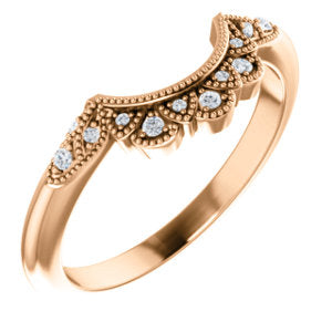 14K Rose .06 CTW Diamond Band - Siddiqui Jewelers