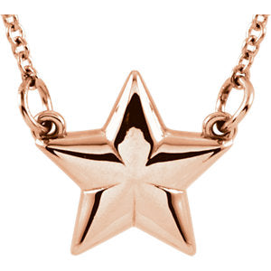 "14K Rose Star 18"" Necklace - Siddiqui Jewelers"
