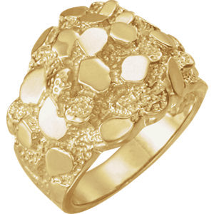14K Yellow Nugget Ring - Siddiqui Jewelers