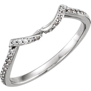 14K White .08 CTW Diamond Band - Siddiqui Jewelers