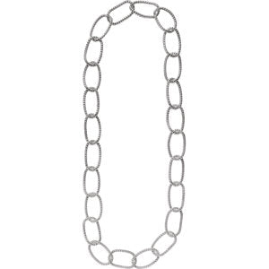 "Sterling Silver Mesh Link 35"" Necklace - Siddiqui Jewelers"