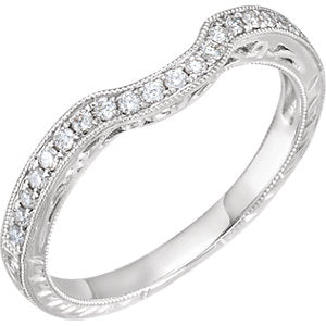 14K White 1/10 CTW Diamond Filigree Band - Siddiqui Jewelers