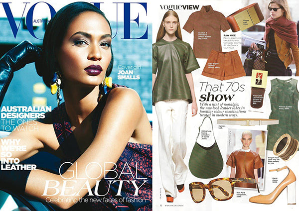 Vogue Australia feature on Brenda Briand designer and director of Benah fashion brand dedicated to the creation of luxurious hand-finished handbags and accessories Online destination shop the latest signature karen walker leather goods
