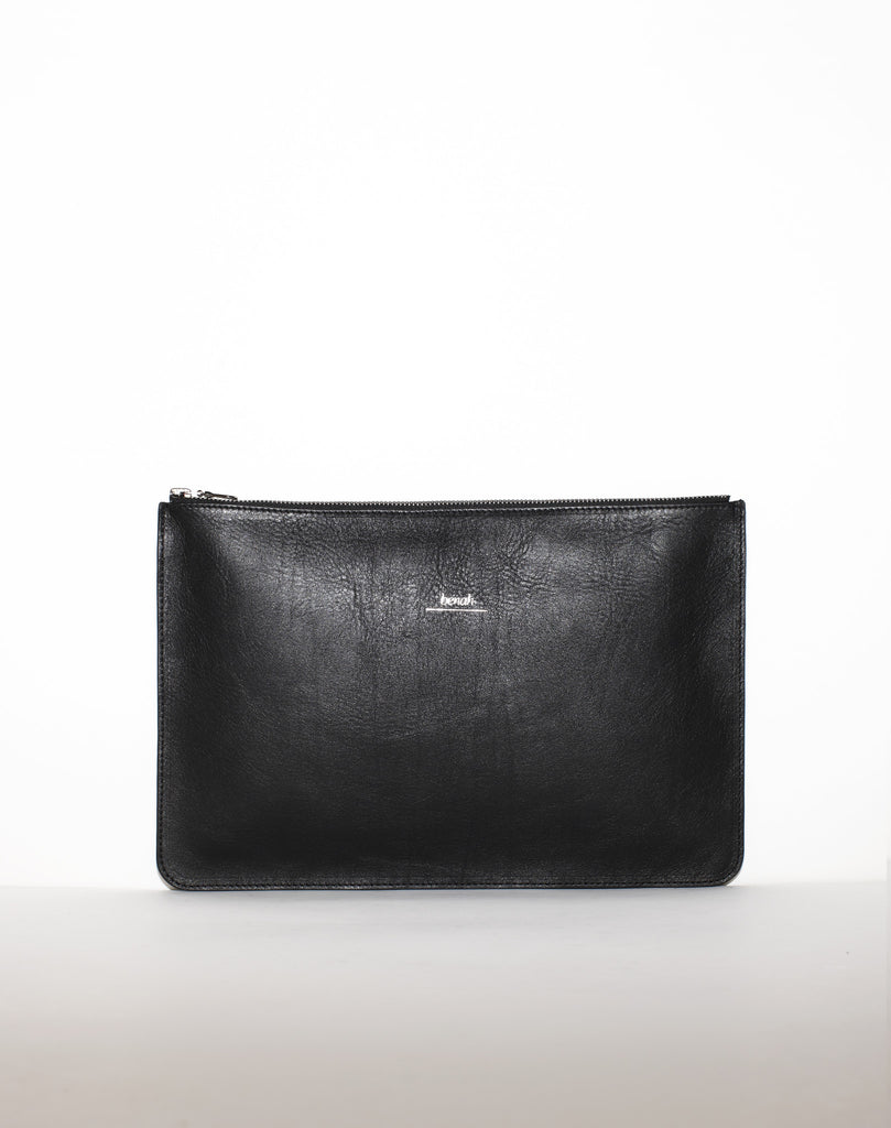 DOCUMENT ZIP CLUTCH | Black Paisley