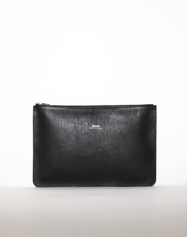 DOCUMENT ZIP CLUTCH | Black