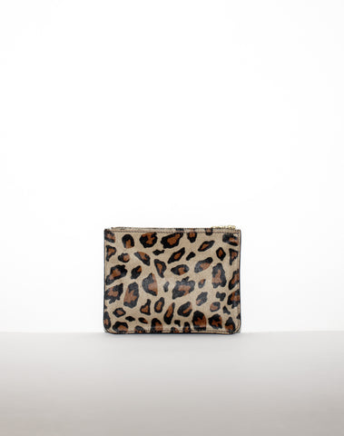 MEDIUM ZIP POUCH | Black Leopard