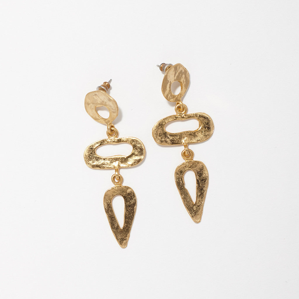 HAMMERED LIQUID DROP EARRINGS