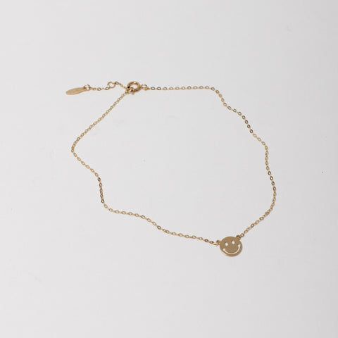 Happy 18kt Gold Anklet