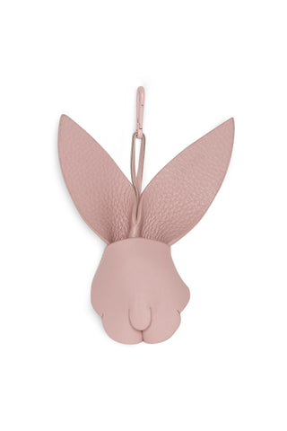BUNNY LEATHER CHARM - BLUSH