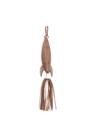 ROCKET LEATHER CHARM - ROSE GOLD