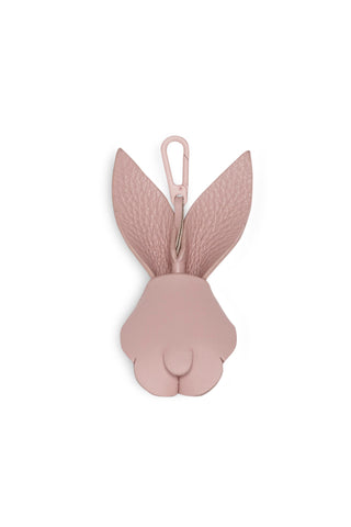 BUNNY SMALL LEATHER CHARM - BLUSH