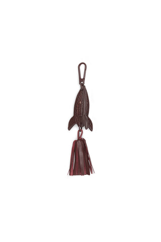 ROCKET SMALL LEATHER CHARM  OXBLOOD