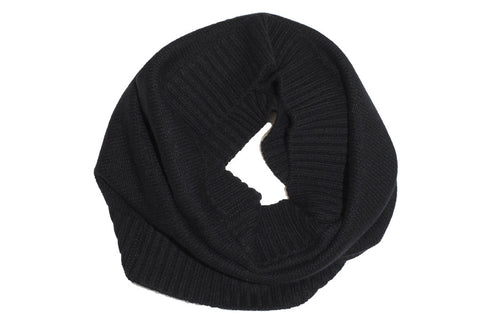 PURE CASHMERE SNOOD | Black