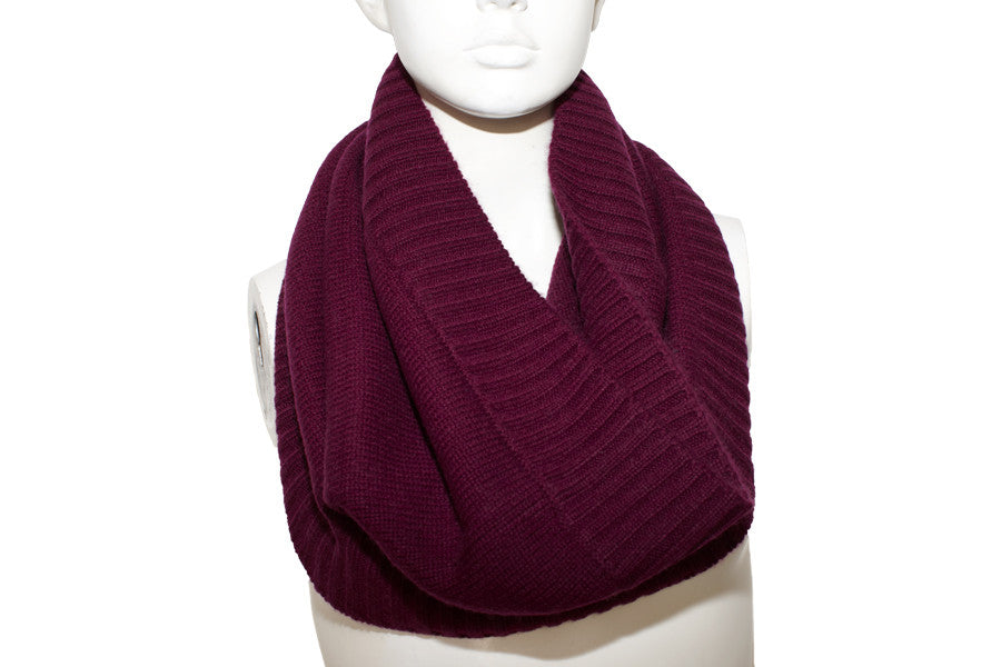 PURE CASHMERE SNOOD | Claret