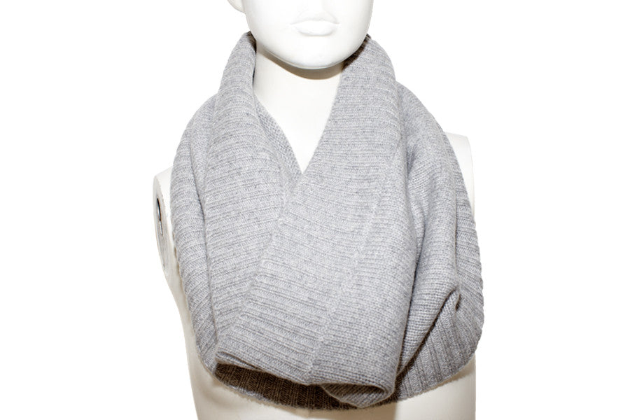 PURE CASHMERE SNOOD | Grey