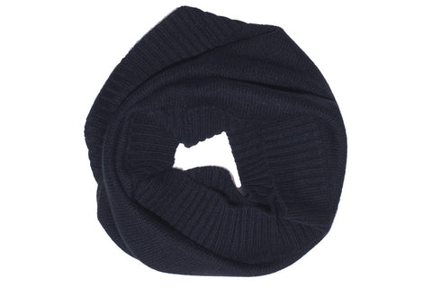 PURE CASHMERE SNOOD | Midnight Navy