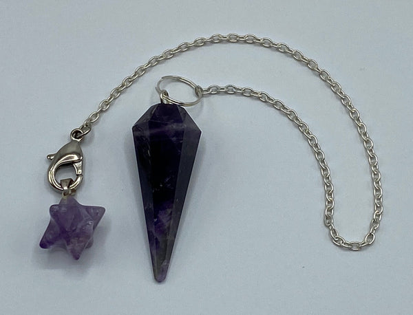 Amethyst Pendulum with Merkaba Accent